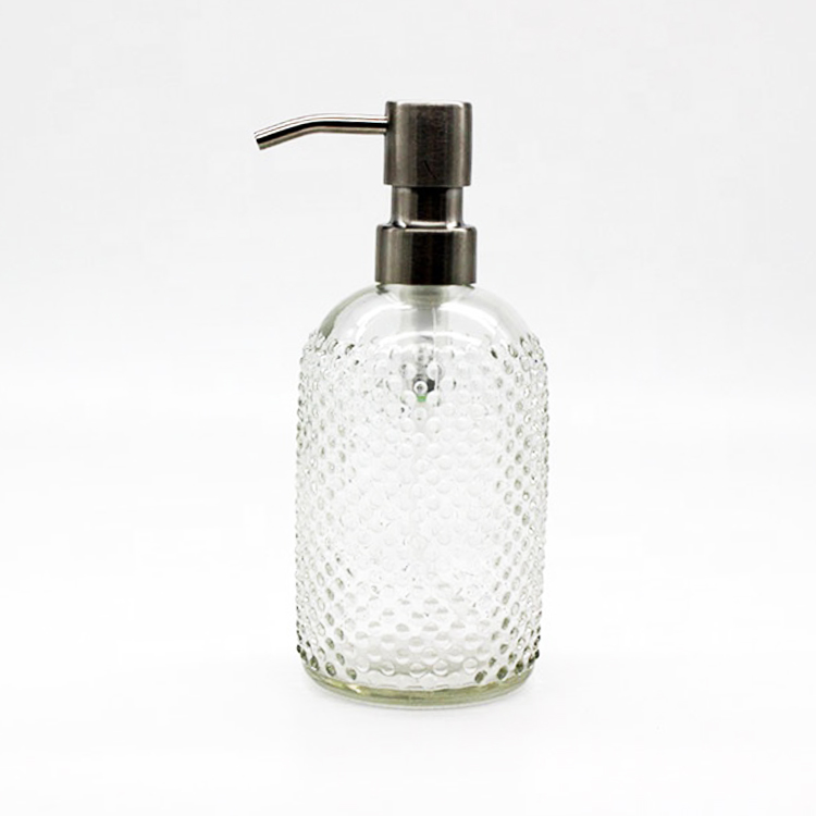 Wholesale cheap 250ml 400ml mason jar clear glass e liquid soap dispenser bottle with aluminum pump lid
