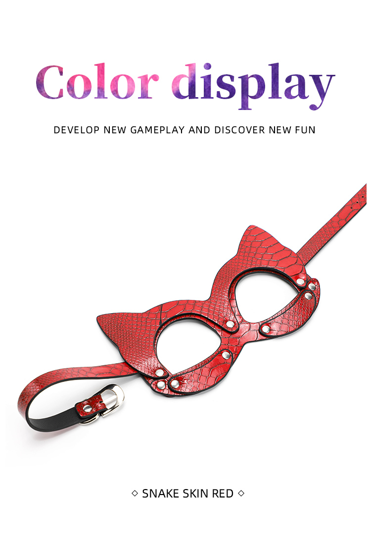 Pu Leather Mouse Mask Woman Sexy SM Games Eye Mask Leather Harness Belt BDSM Bondage Fetish Wear