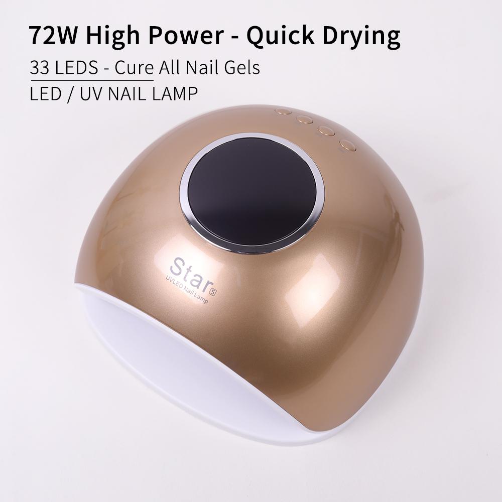 Hot Selling 72 W UV LED Nail Curing Lamp for Gel Polish UV Light Dryer