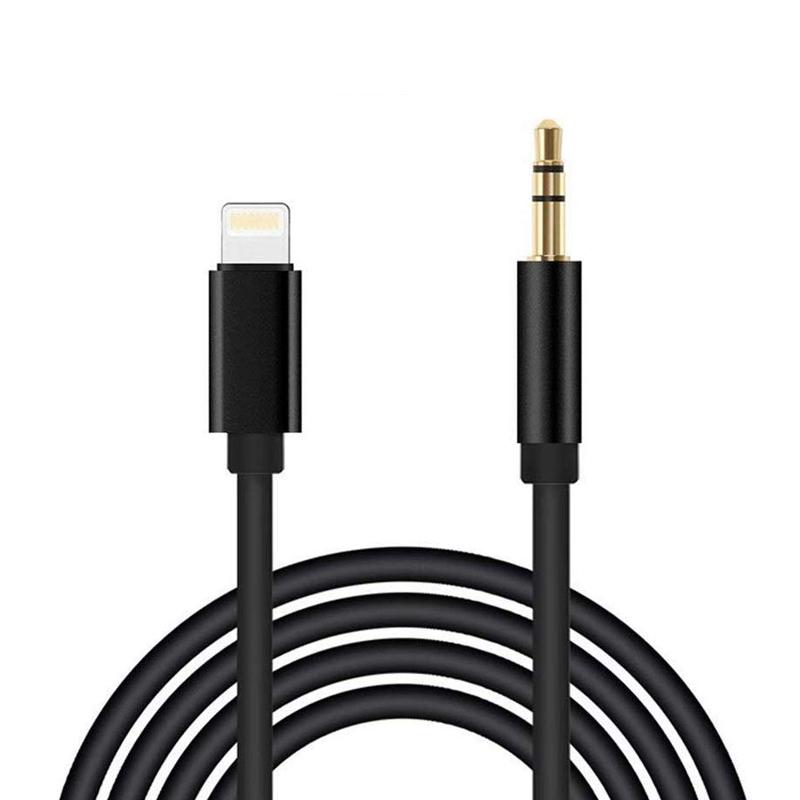 Cable Auxiliar para iPhone 11 Cable Auxiliar para Auto a Jack Adaptador de 3.5mm para iPhone 7Plus//8//X//XS//XR//11 a Radio de Coche//Adaptador de Altavoz//Auriculares Compatible con Todos los iOS-Plata