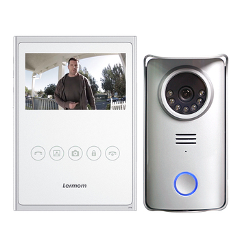 Waterproof 4.3 inch 4 wire 7 inch door bell camera intercom video with for villas apartments