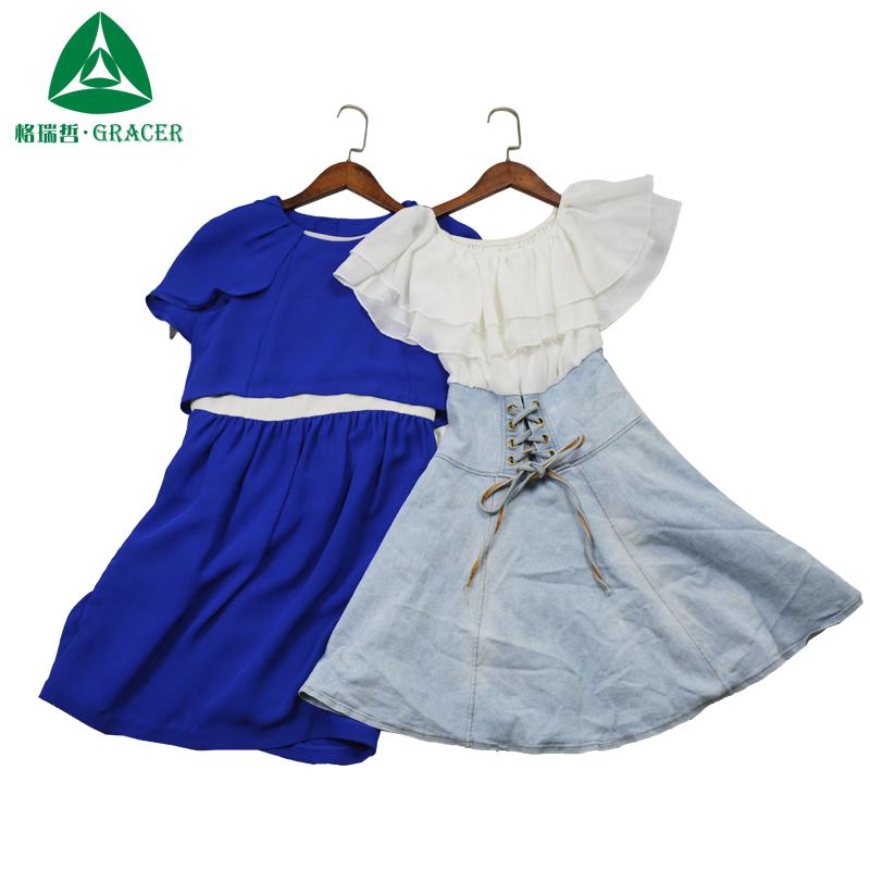 Б/у одежды в кг секундная стрелка Хлопковое платье одежда для леди, секонд-Италия
