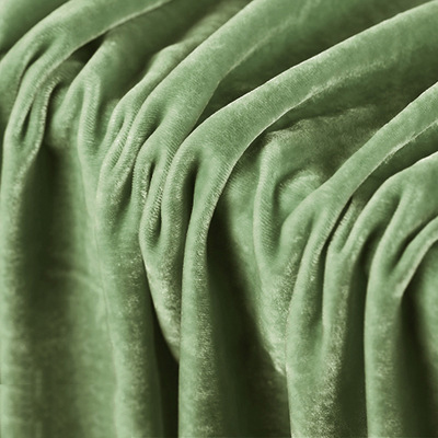 Fashion Breathable Soft Smooth 100% Silk Velvet Fabric For Evening Dress