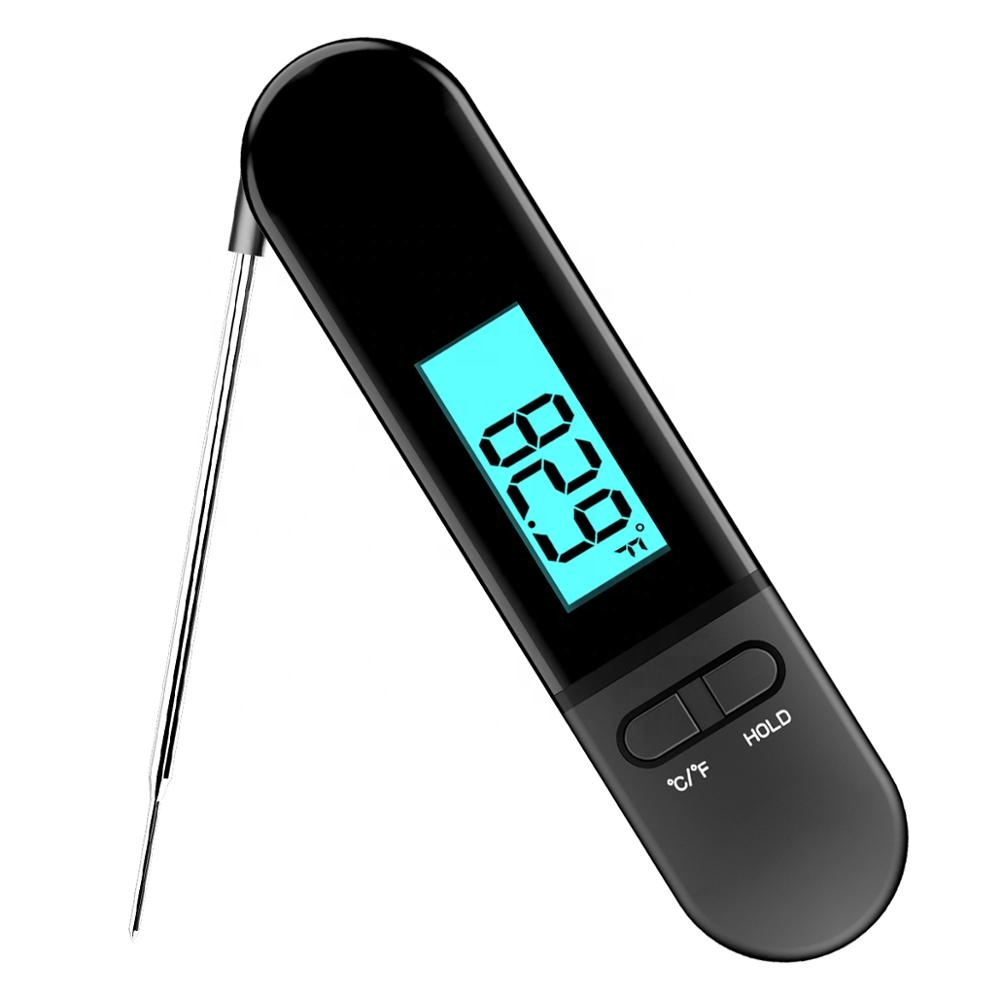 Instant Read Digital Meat Thermometer with Folding Probe BBQ Temperature Guide Kitchen food Thermometer