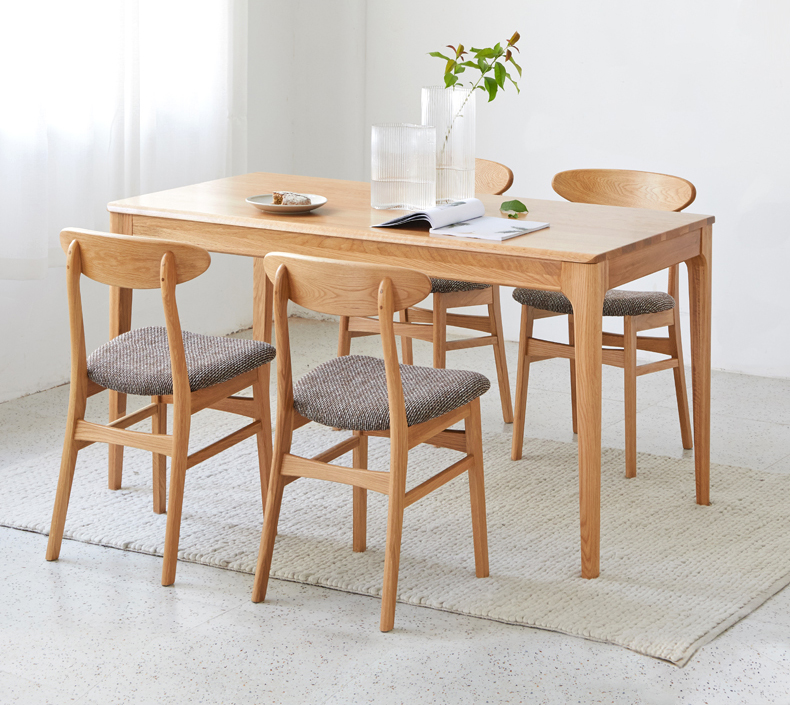 product-BoomDear Wood-solid wood table dining table set short 4 persons modern online pine ash oak w