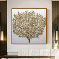 Wall Decorative Painting Posters and Prints Wall Art Canvas Painting Abstract Golden Tree Pictures for Living Room