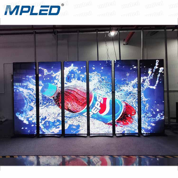 P2.5 Full Color Video indoor LED Display Stand Poster LED <strong>Screen</strong> Mirror <strong>Portable</strong> <strong>screen</strong>