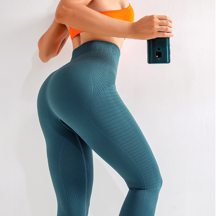 Shenzhen Ljvogues Newest Three-color Peach Hip High Waist Tight Fitness Compression Seamless Pants 5