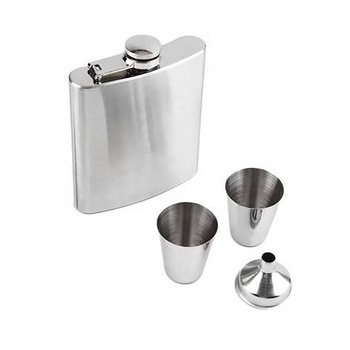 YIDING 6oz 7oz 8oz 9oz 10oz 18oz Wholesale Funny Gift Stainless Steel Wine Water Hip Flask Set wine shot glasses Drinking Flask