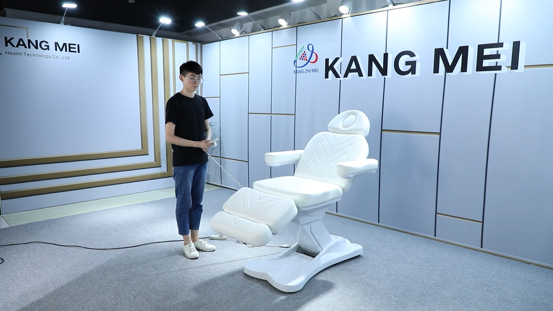 Adjustable Spa Salon Cosmetic 3 Electric Motors Beauty Treatment Massage Table lift Eyelash Bed Podiatry Tattoo Facial Chair
