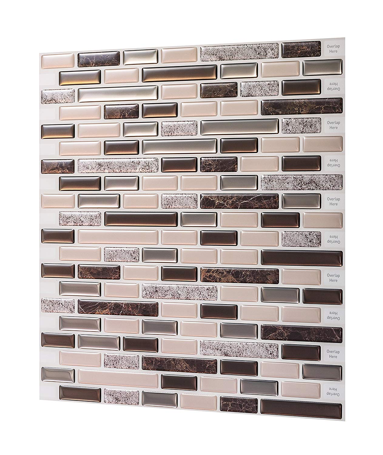 3D  creative wall paper easy DIY backsplash tile peel and stick for bedroom kitchen apartment