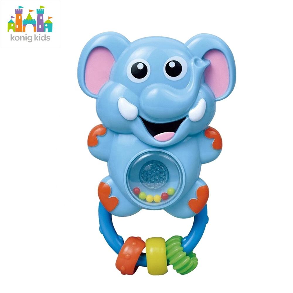 2020 Konig Crianças Produtos Do Bebê de Plástico Brinquedos Animais Agitando Sinos de Mão Com Iluminação Música Chocalho Do Bebê Do Bebê