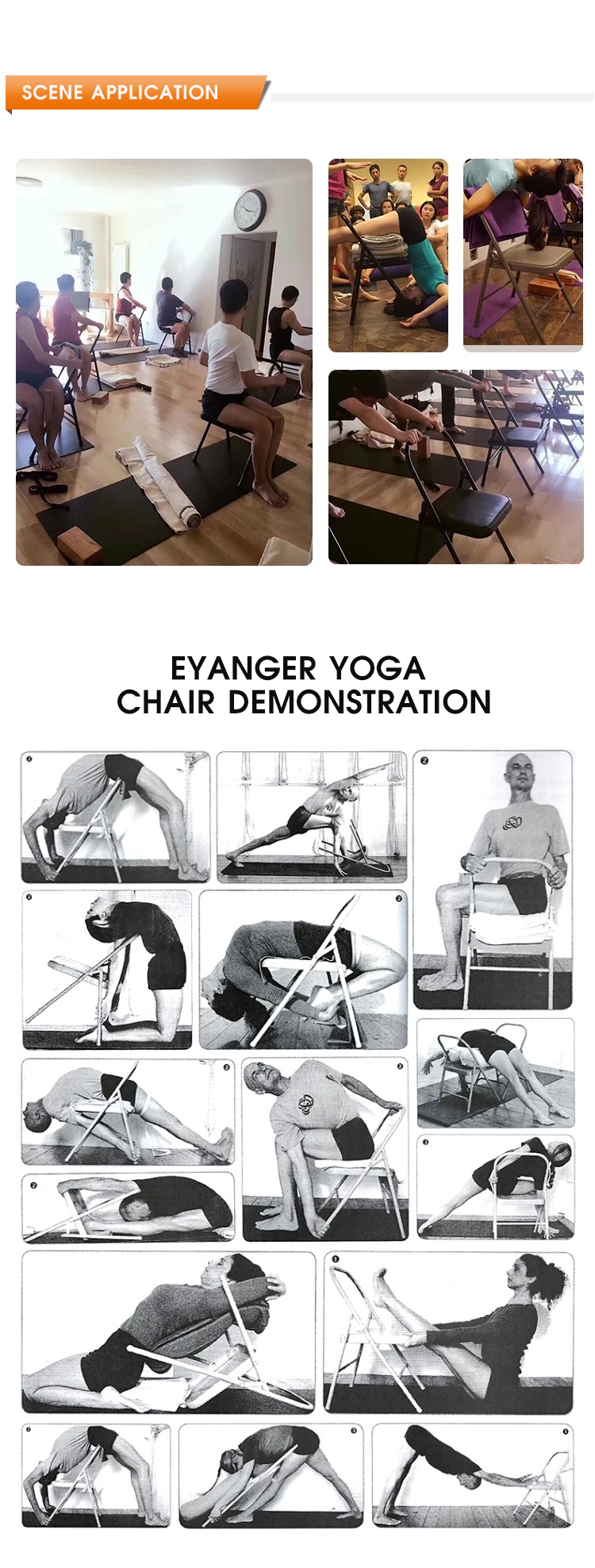 Di alta Qualità del Commercio All'ingrosso di Yoga Pieghevole Sedia, Made In China Metallo Yoga Sedia Per La Meditazione