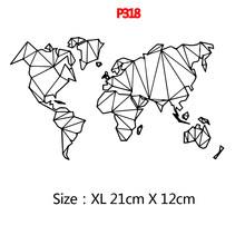 Новая модная карта мира наклейки для ноутбука украшения(Китай)