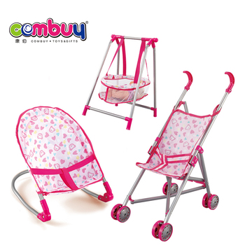 Kids play house 3in1 baby doll stroller set for wholesale