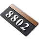 Acrylic Modern Hotel Room Number Plaques Fancy House Number Plate for Apartment Door Decoration