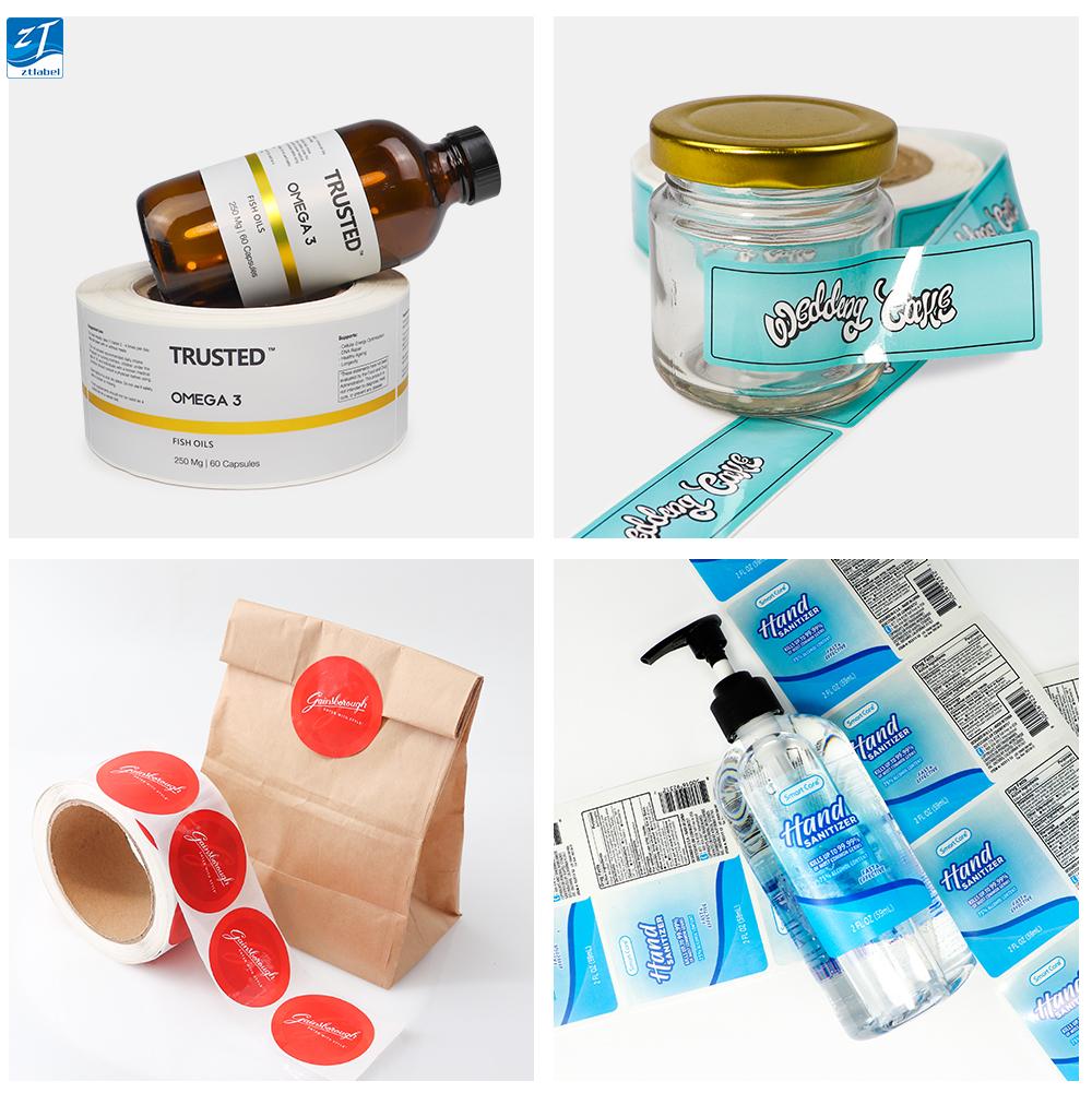 Personnalisé de haute qualité produit de soins de santé impression autocollant adhésif pour étiquettes de bouteille de pilule/sac de sang médical bouteille étiquette