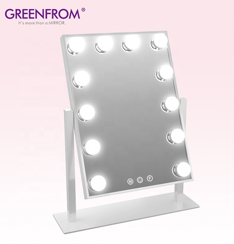 12 Led Lamp Licht Up Make-Up Spiegel Espejo Hollywood, Hollywood Glow Xl Pro Vanity Spiegel