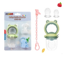3-12 monate baby 4 pc set Frosch form BPA FREI PP silikon material gemüse obst baby food feeder nippel