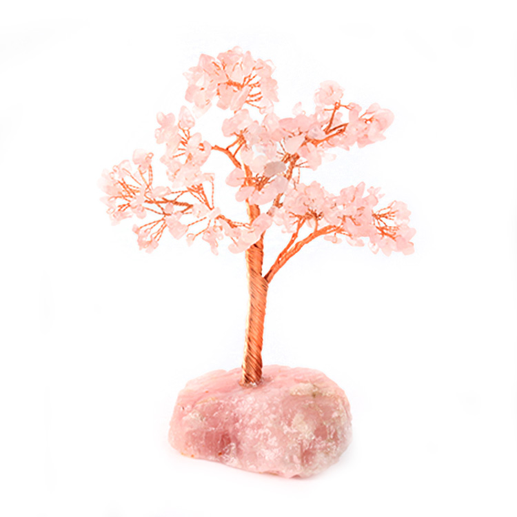 2019 Hot Koop Hand Made Rose Quartz Rough Pot Noney Healing Citrien Quartz Crystal Reiki Boom Voor Kerst Cadeau