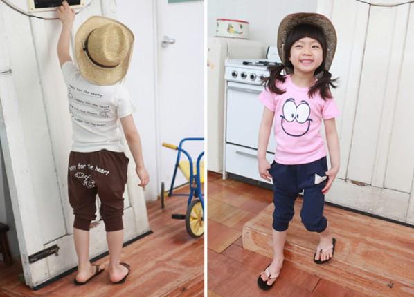 Atacado Estilo Coreano 2 Peças Pista Conjunto Dos Miúdos Das Crianças Meninos E Meninas Treino Terno Baba de Design Da China