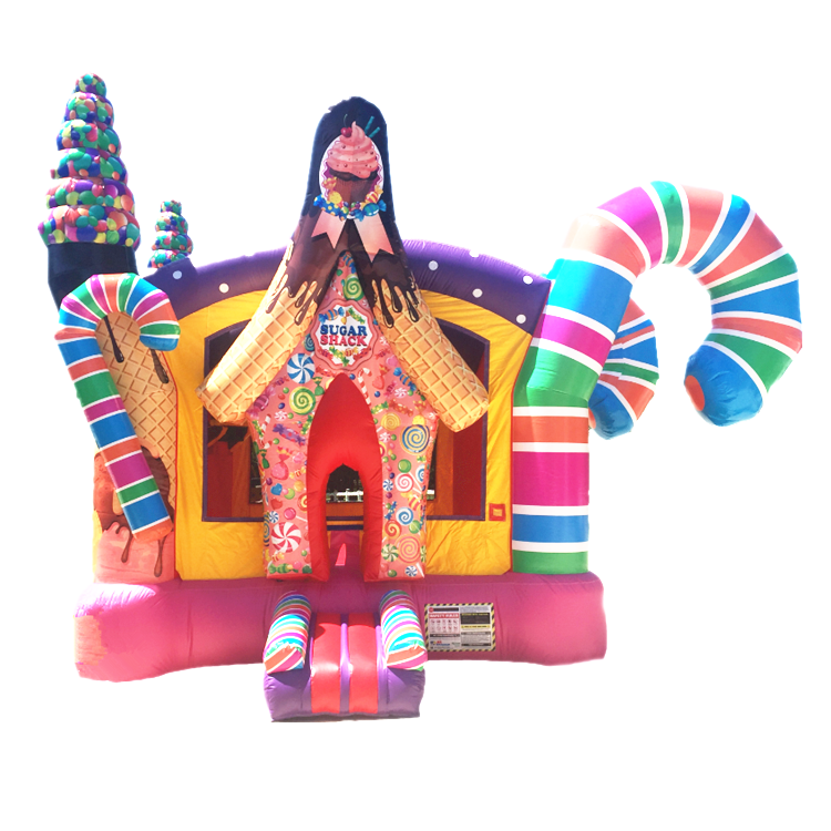 Sugar Shack Candy land Bounce House combo พอง candy bounce house