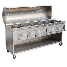 Hot sale fish rack bbq  doner kebab grill  chicken roasting machine