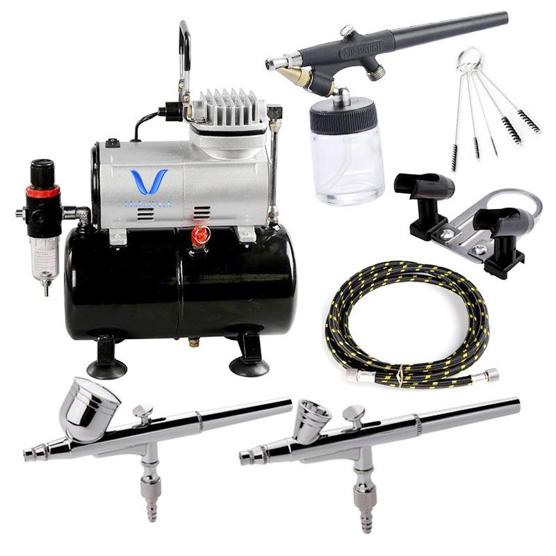 LinhaivetA cake kit model set airbrush compressor paint mini air brush machines