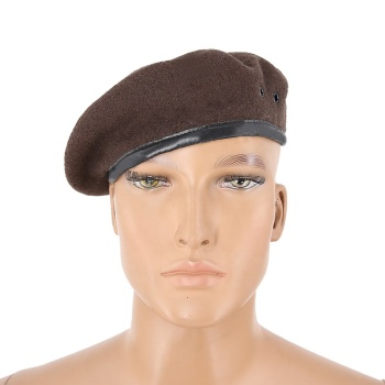 100% wool brown army custom tactical military berets for men