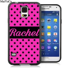 MaiYaCa розовый персональный монограмма индивидуальные инициалы телефонные чехлы для samsung Galaxy S6 S7 edge S8 S9 S10 Plus Lite Note 8 9 крышка(Китай)