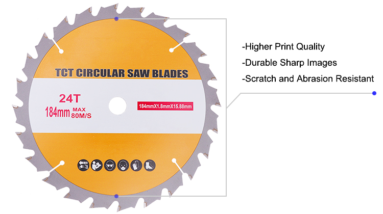 TCT Combination Circular Saw Blade for Wood Cross and Rip Cutting