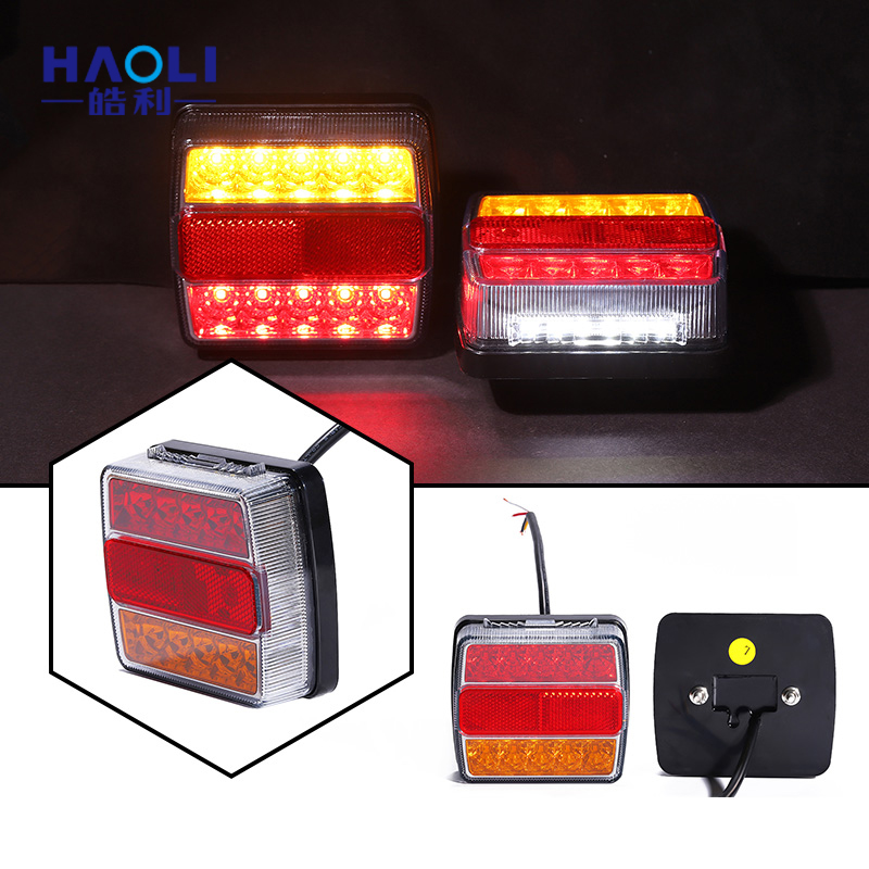 Custom Voltage truck trailer taillights 12 <strong>v</strong> 16 led led tail lamp for truck