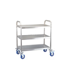 Hotel room service furniture amenities list 3 tier luxury stainless steel food tea wind serving trolley cart for sale