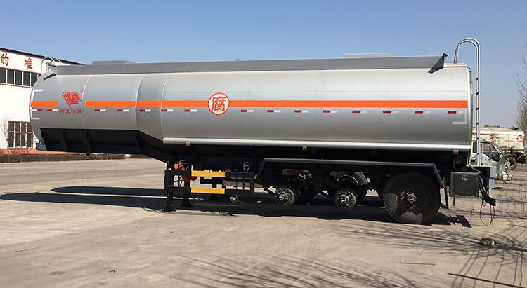 3 סרן 40cbm אלומיניום סגסוגת דלק טנק קרוואן למחצה למכירה