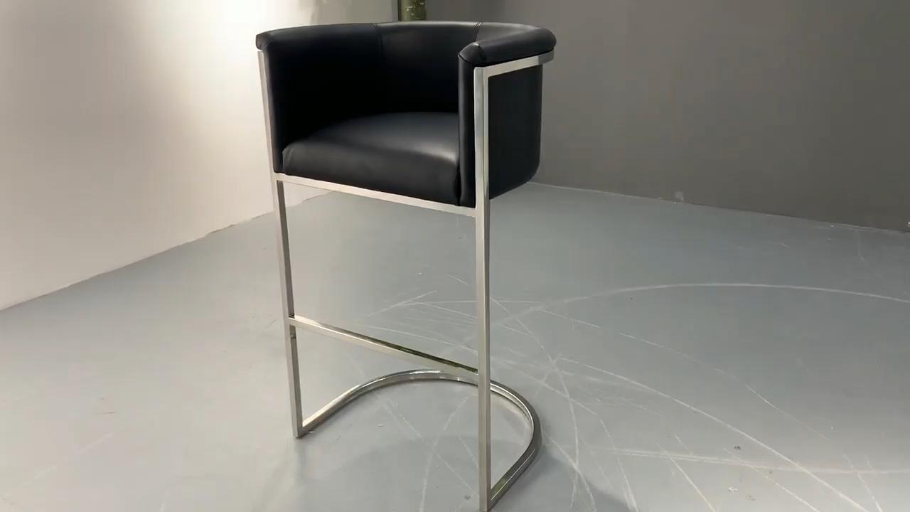 Oro Metal Bar taburete de contador altura silla moderna