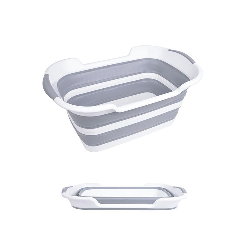תכליתי נייד מתקפל TPR PP מתקפל מתקפל פלסטיק מקלחת אגן כביסה אחסון כביסה סל