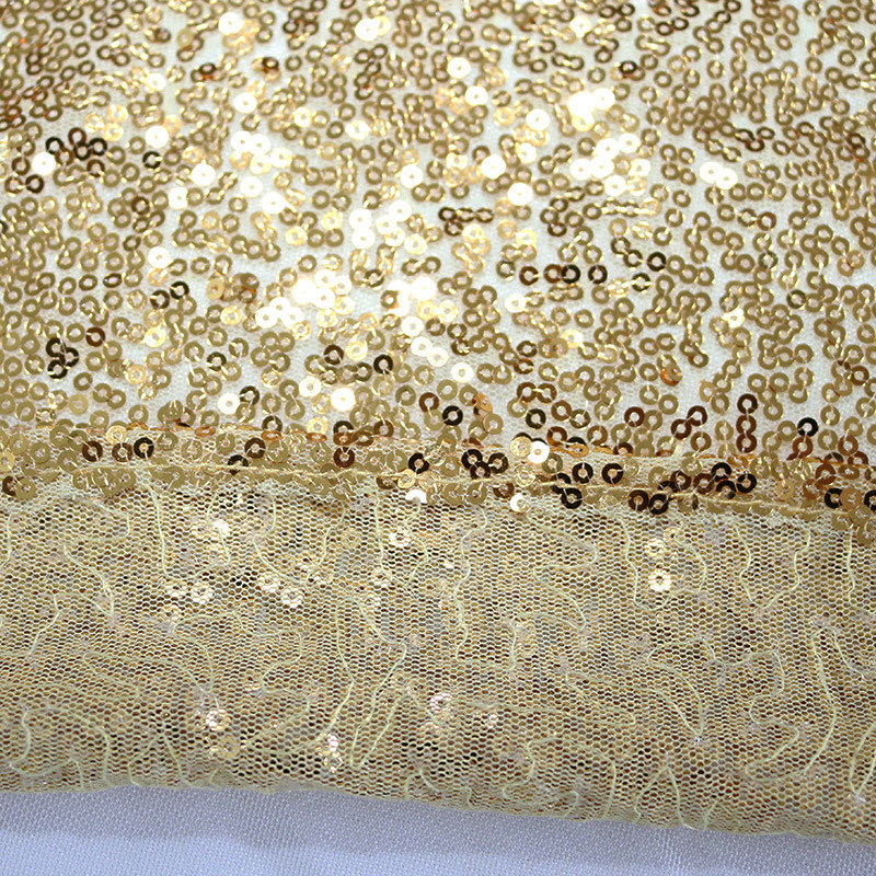 132inch Home Wedding  Event Party Table Cover ,Banquet Decoration Christmas  Golden Sequin Tablecloth#