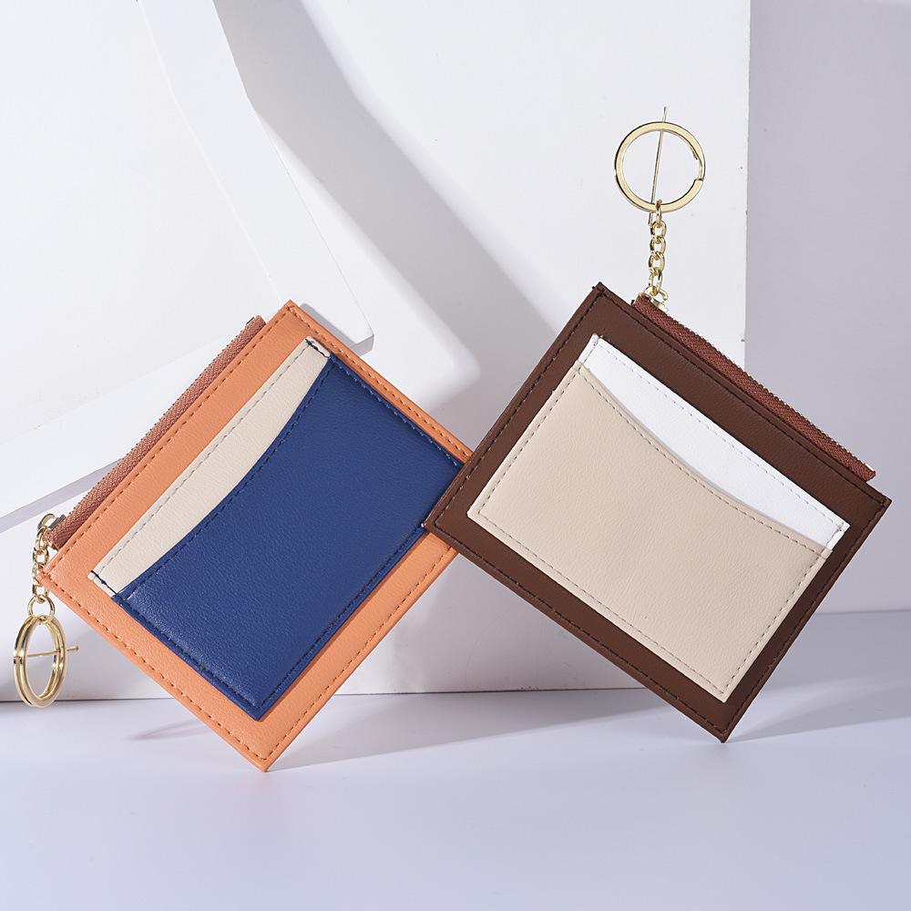 factory Wholesale new style credit card holder mini wallet pu leather coin purse for ladies