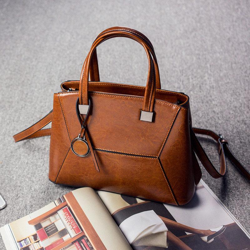 REALER, роскошные женские сумки, женская винтажная кожаная сумка на плечо, Большая вместительная сумка, сумки через плечо для женщин, 2020(Китай)