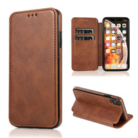 Magnetic Wallet Flip PU Leather Phone Case For Iphone XS Max XR XS 8 7 6 6S Plus Holder Card Slot Shockproof Full Fitted Cover