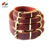 Hot Sale Dog collar leather Pet Supplies Adjustable Leather Pet Collars Soft and Durable Real Cow Leather Made