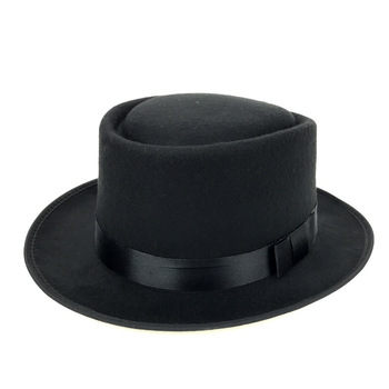 Hot sale New black top tall hat adult magician fancy dress victorian Lincoln Ringmaster hat Woolen Hat