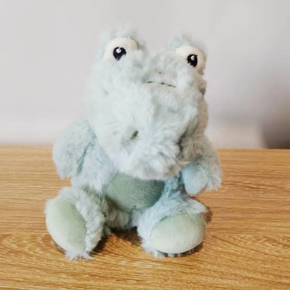 Custom made mini stuffed animals cute soft light blue dinosaur animal plush keychain lady decoration