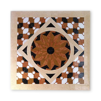 Fashion Lobby Modern Patterns Natural Marble Floor Square Waterjet Medallion