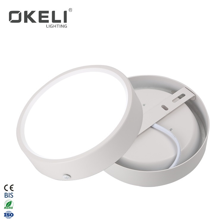 OKELI Factory wholesale cheap price round aluminum smd 5w 9w 15w 25w surface mounted indoor ceiling led down light