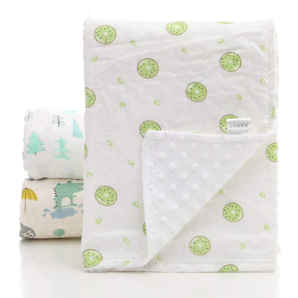 عالية الجودة لينة اللمس بطانية موسلين للأطفال مطبوعة الوليد أغطية من المنك للبيع