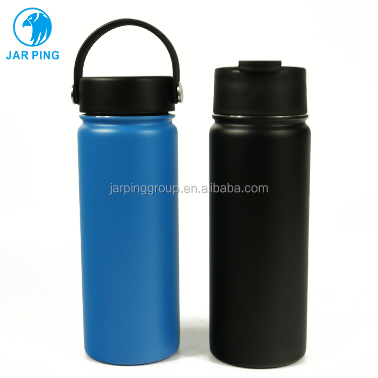 Custom logo printed 18oz eco-friendly double wall stainless steel camping travel bulk coffee / beer thermal mug tumbler