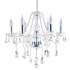 classic Simple living room white Candlestick Chandelier Crystal Chandelier