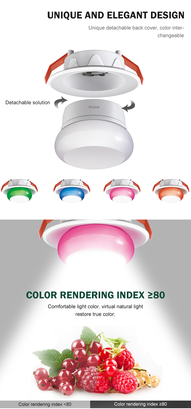 Good price BIS approved indoor lighting flush mount removable ABS 7w led down light