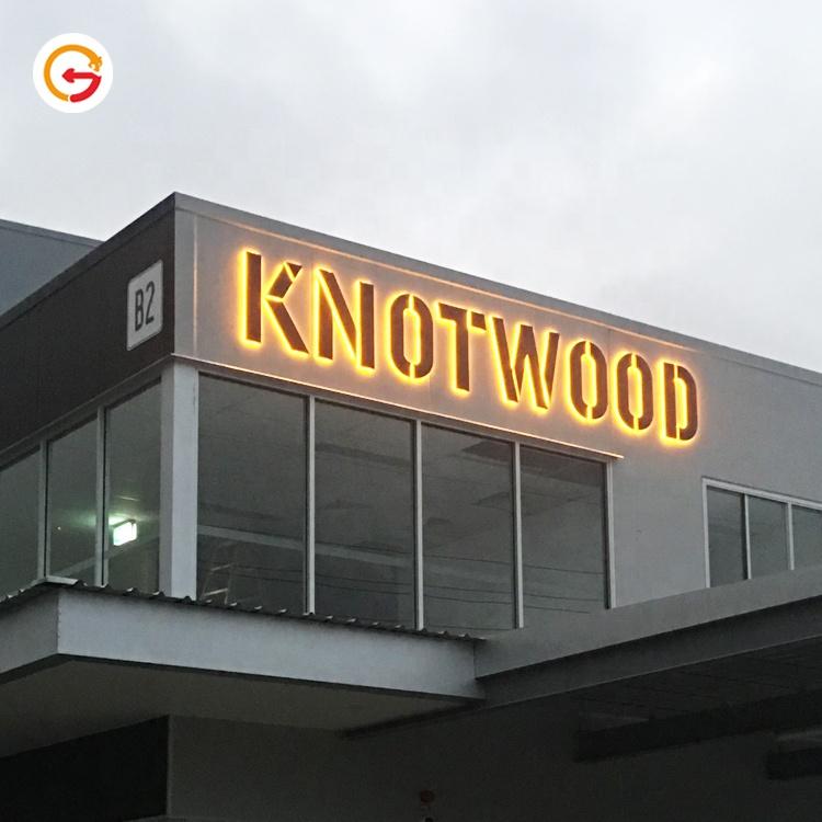 JAGUARSIGN Customized 3D Outdoor Advertising Led Illuminated Large Letter Sign Led Backlit Business Sign Manufacturer